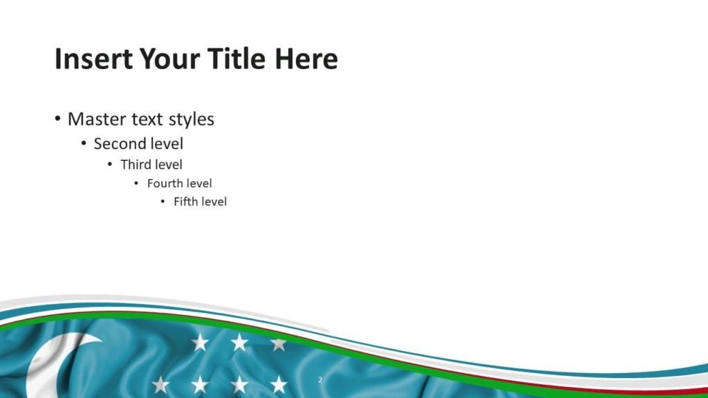 Free Uzbekistan Flag PowerPoint and Google Slides Template - Slide 2