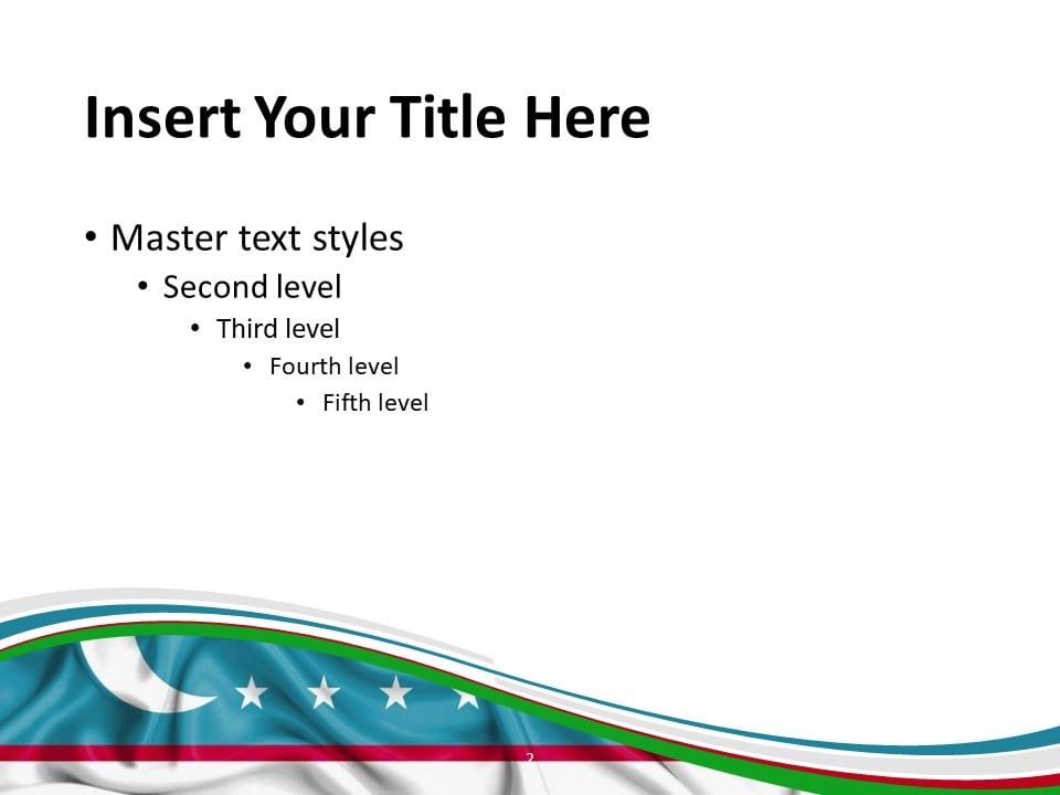 Free Uzbekistan Flag PowerPoint Template - Slide 2