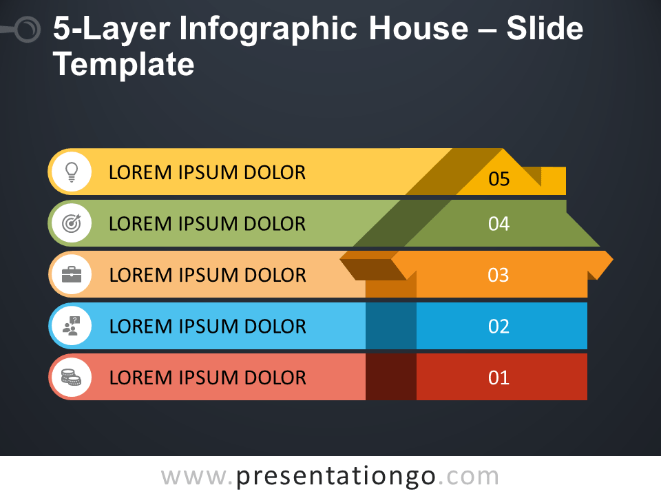 Free 5-Layer Infographic House Template