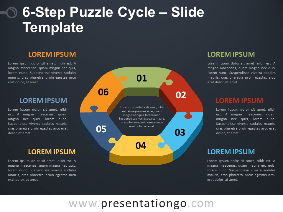 Free 6-Step Puzzle Cycle Template