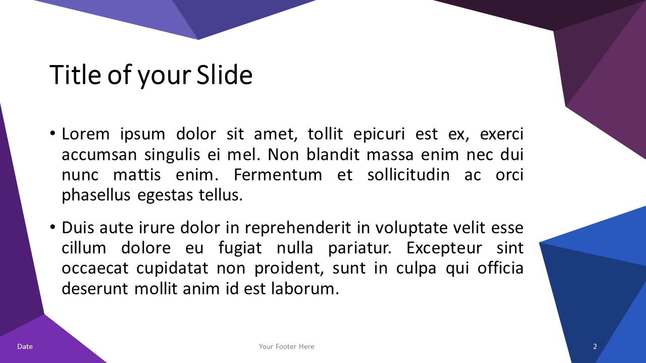 Blue-Purple Triangle Mosaic Template for PowerPoint and Google Slides - Slide 2