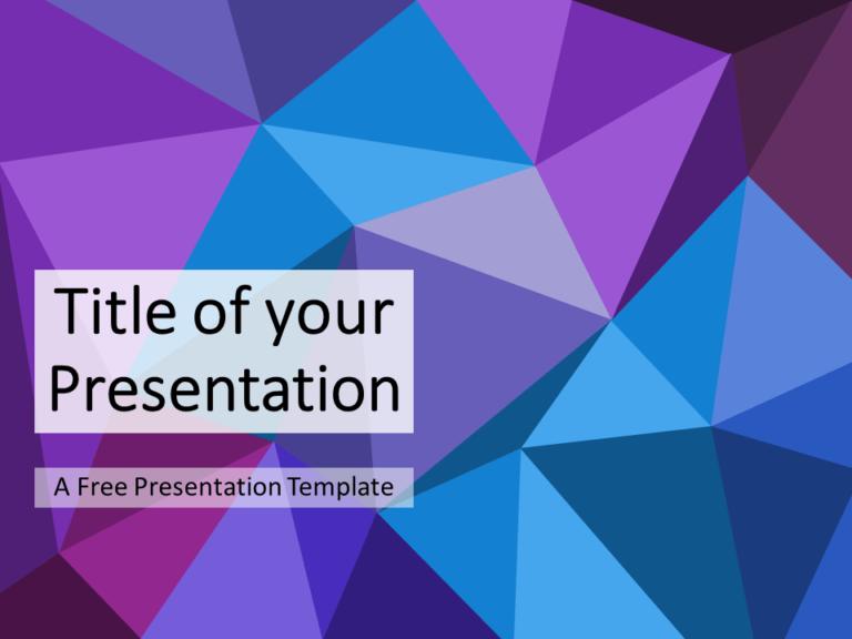Blue-Purple Triangle Mosaic Template
