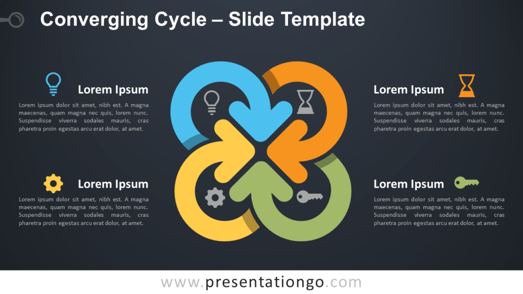 Free Converging Cycle for PowerPoint