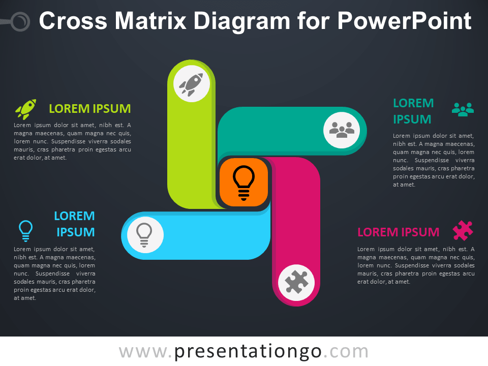 Free Cross Matrix Diagram PowerPoint Template