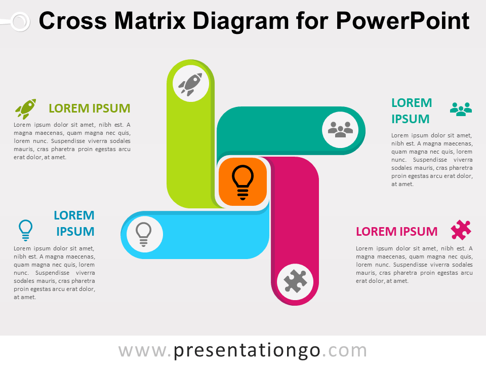Free Cross Matrix Diagram for PowerPoint