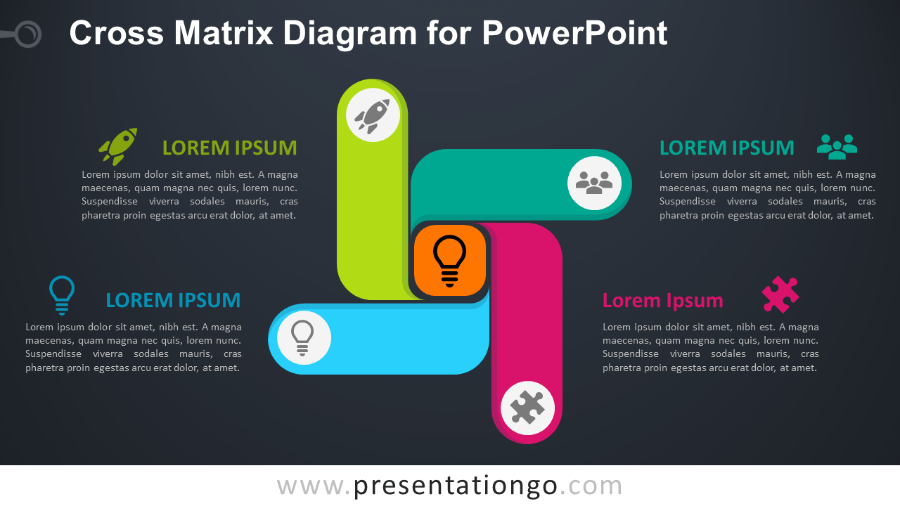 Free Cross Matrix PowerPoint Template