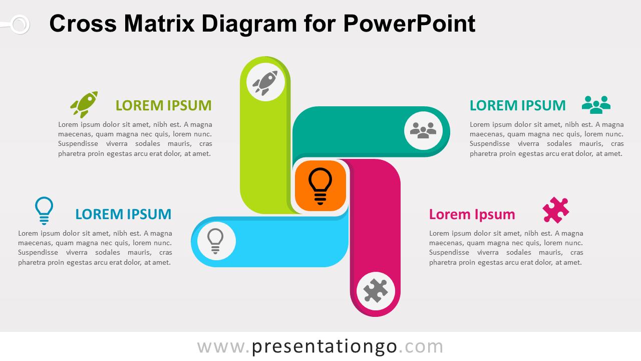 Free Cross Matrix for PowerPoint