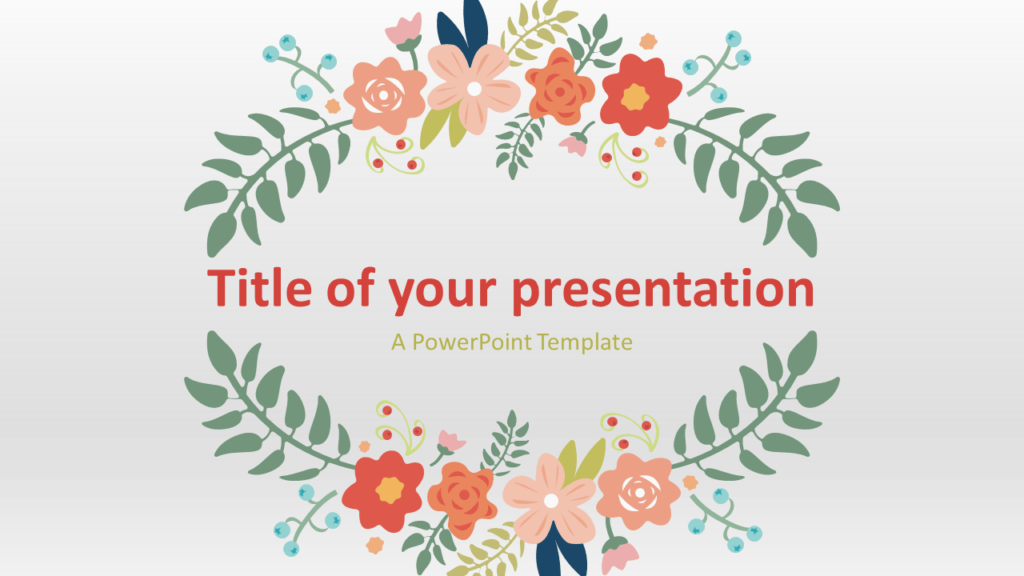 Free Floral Spring Template for PowerPoint and Google Slides