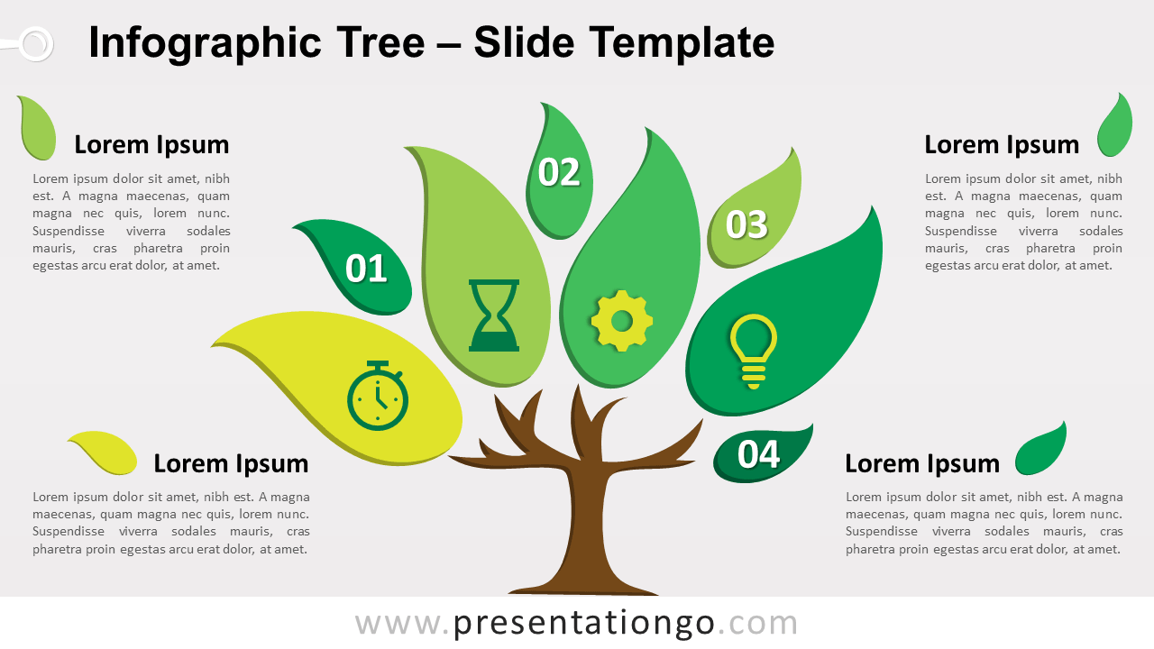 Free Infographic Tree for PowerPoint and Google Slides