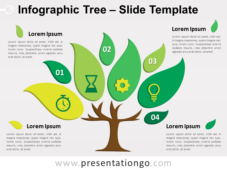infographic tree for powerpoint and google slides. Black Bedroom Furniture Sets. Home Design Ideas