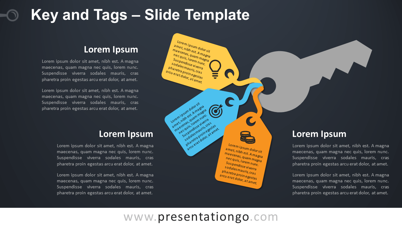 Free Key and Tags Template for PowerPoint