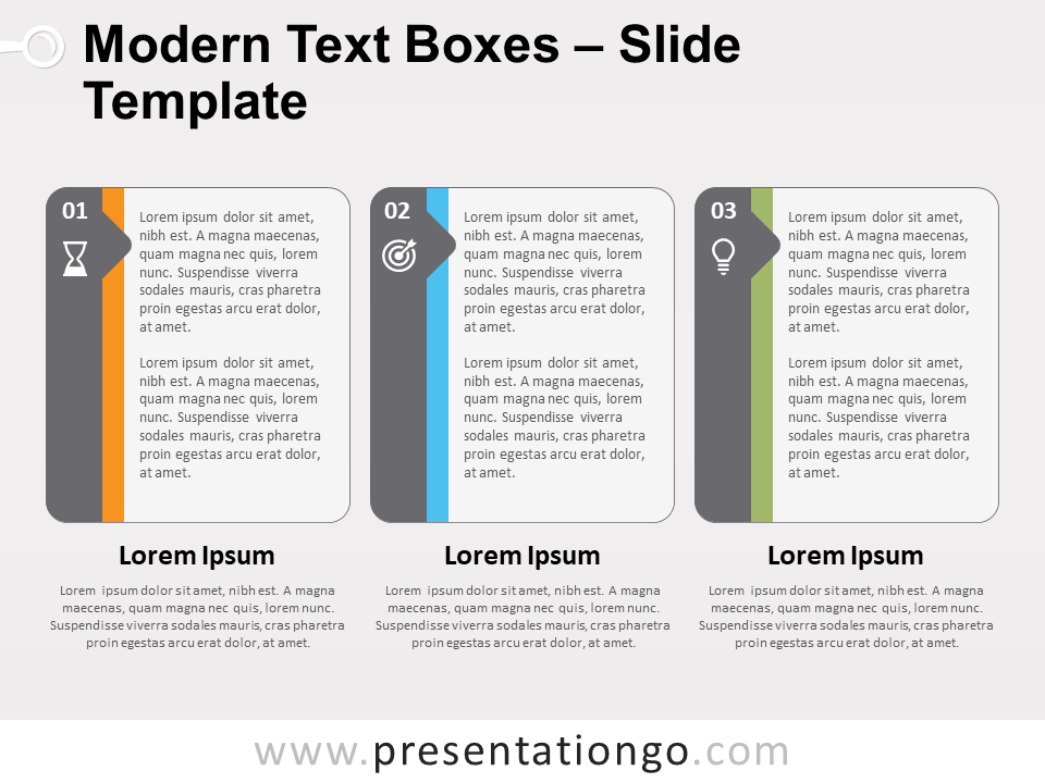 Free Modern Text Boxes Slide Template