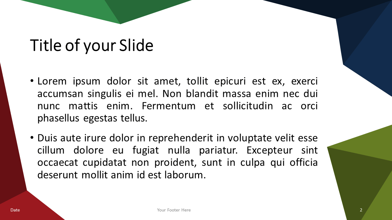 Multicolor (variant 3) Triangle Mosaic Template for PowerPoint and Google Slides - Slide 2