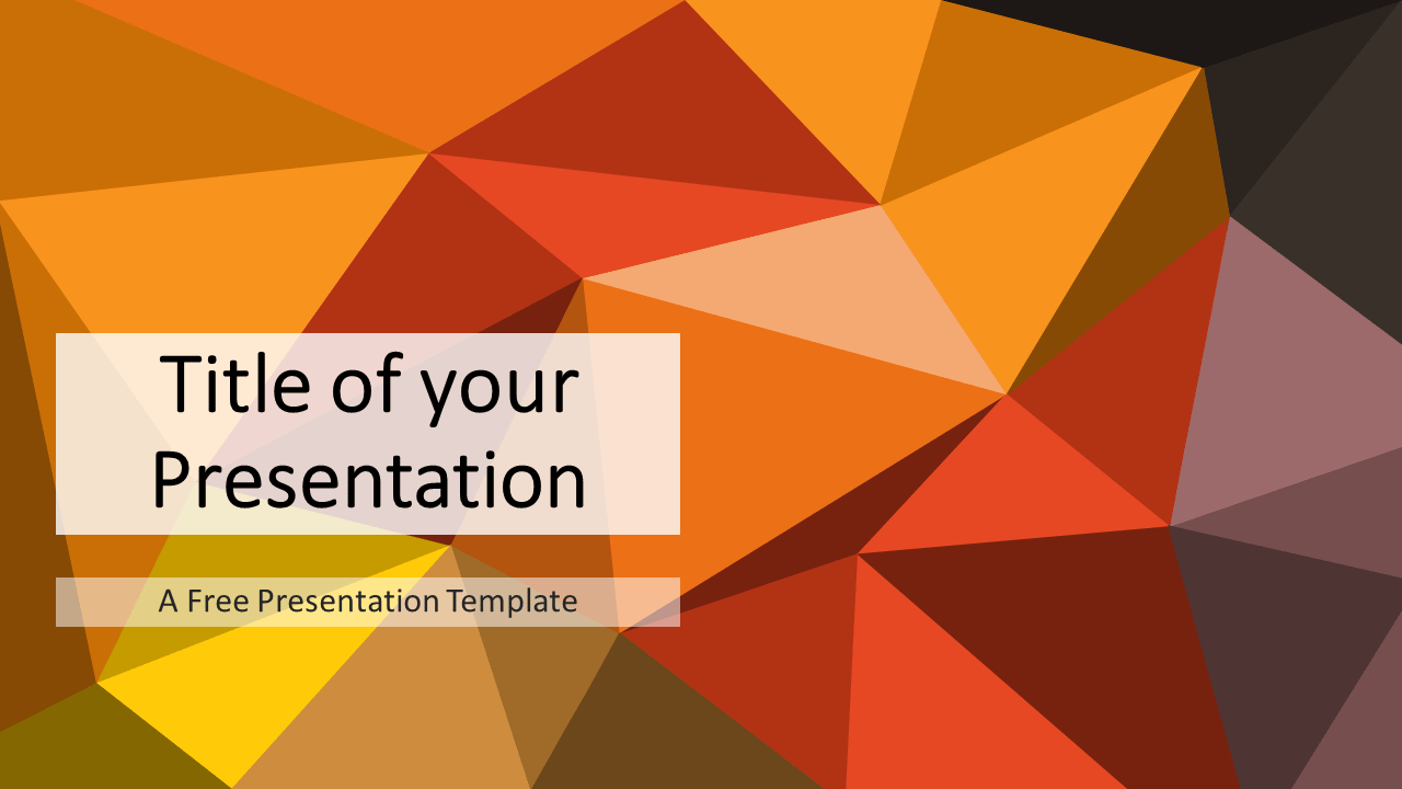 Free Orange-Brown Triangle Mosaic Template for PowerPoint and Google Slides