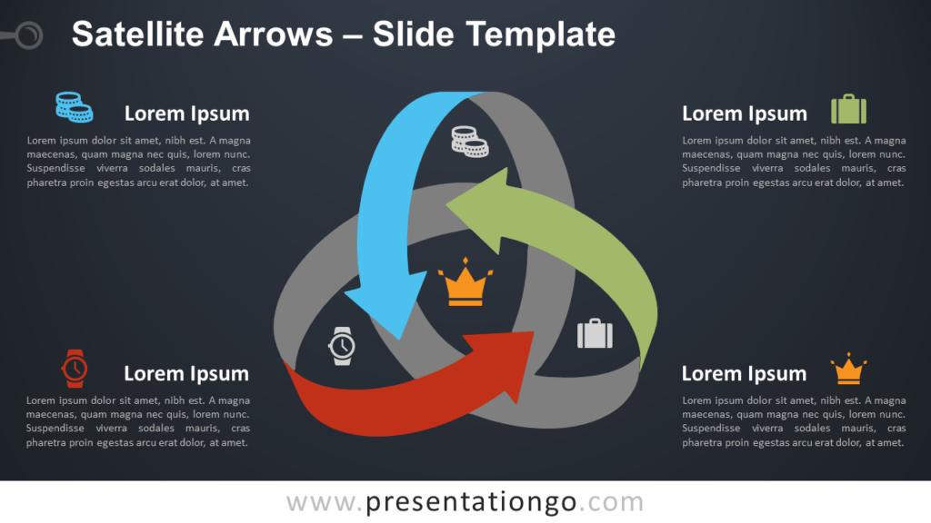 Free Satellite Arrows for PowerPoint