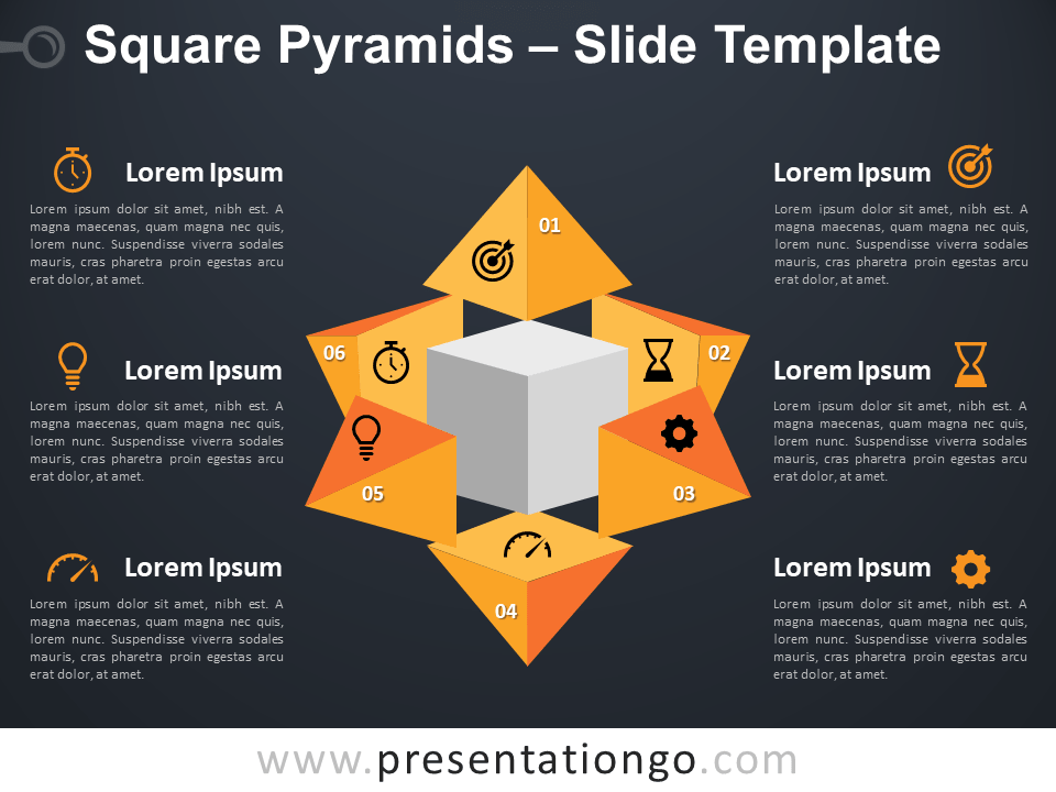 Free Square Pyramids Infographic Template