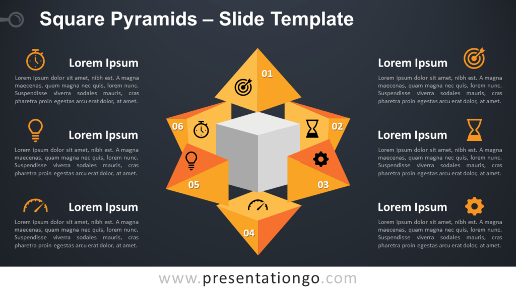 Free Square Pyramids for PowerPoint