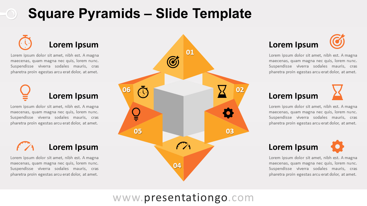 Free Square Pyramids for PowerPoint and Google Slides