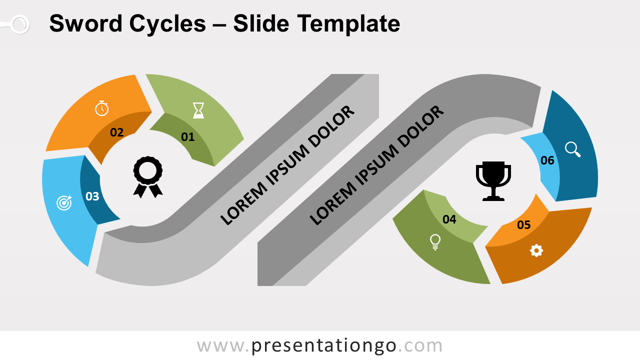 Free Sword Cycles for PowerPoint and Google Slides