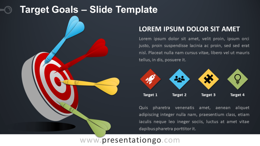 Free Target and Goals for PowerPoint