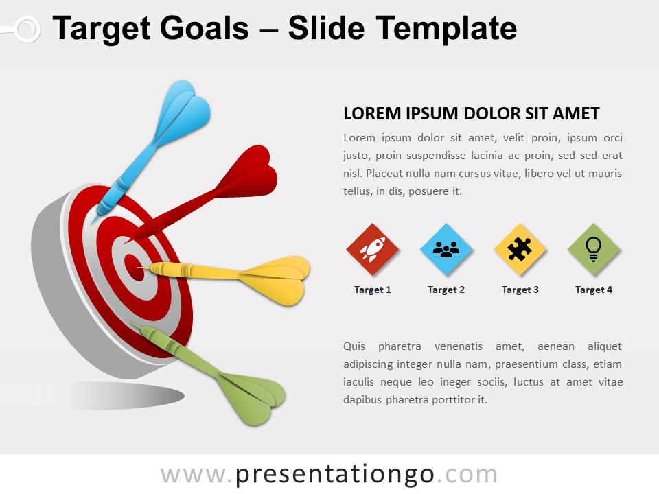 target goals for powerpoint and google slides. Black Bedroom Furniture Sets. Home Design Ideas