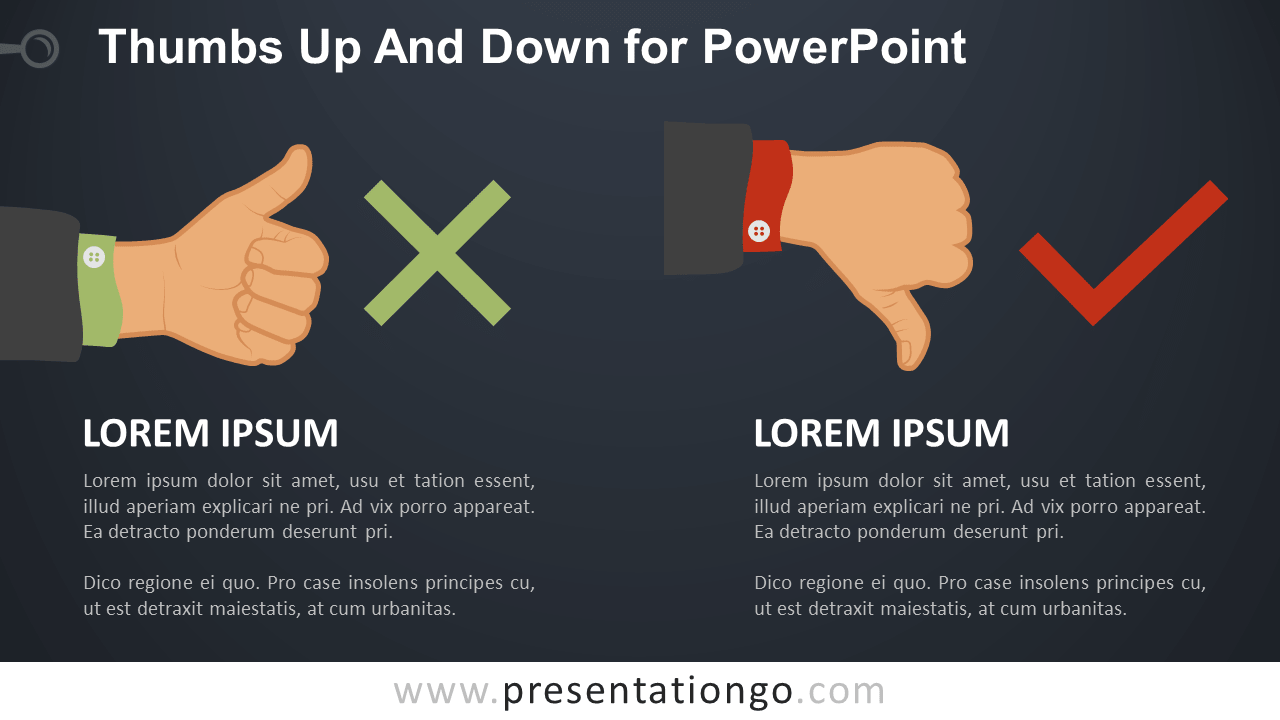 Free Thumb-Up and Thumb-Down PowerPoint Slide Template