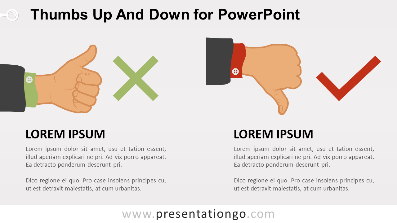 Free Thumb-Up and Thumb-Down for PowerPoint