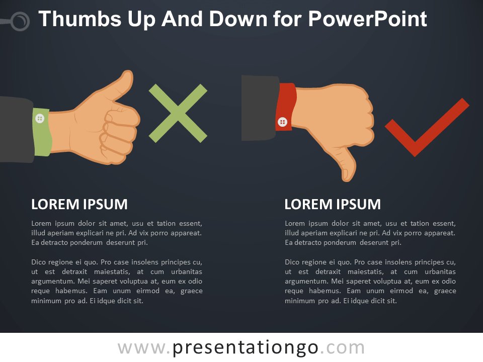 Free Thumbs Up and Down PowerPoint Slide Template