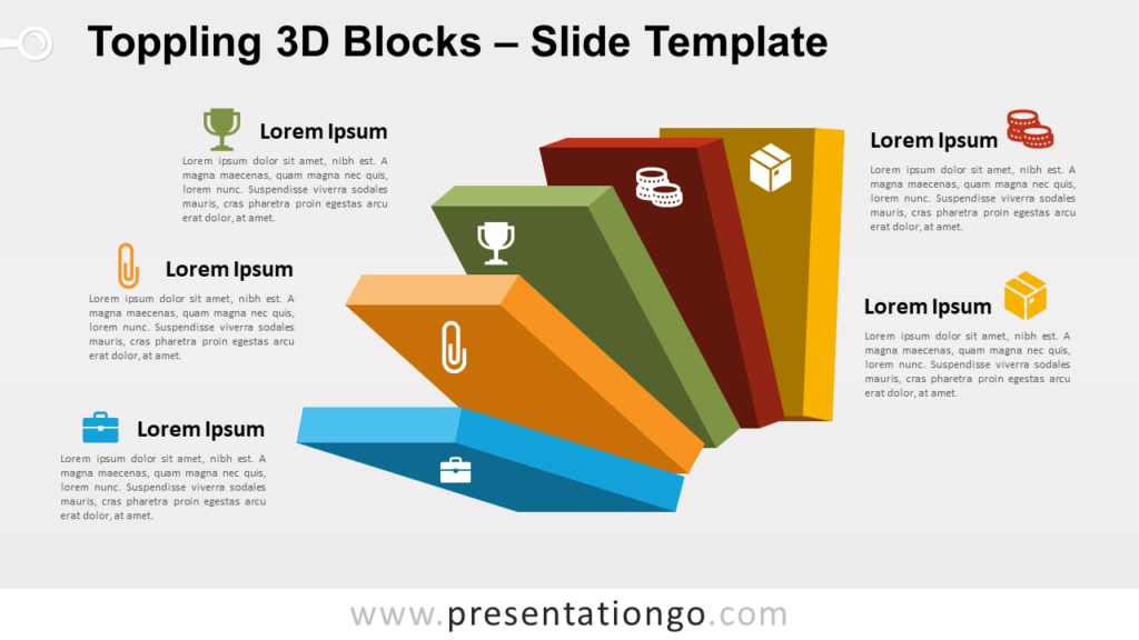 Free Toppling 3D Blocks for PowerPoint and Google Slides