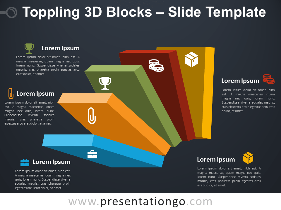 Free Toppling 3D Blocks Template