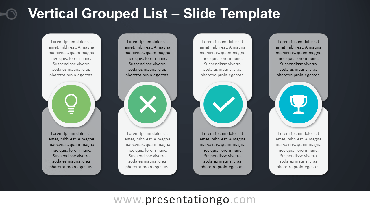 Free Vertical Grouped List for PowerPoint