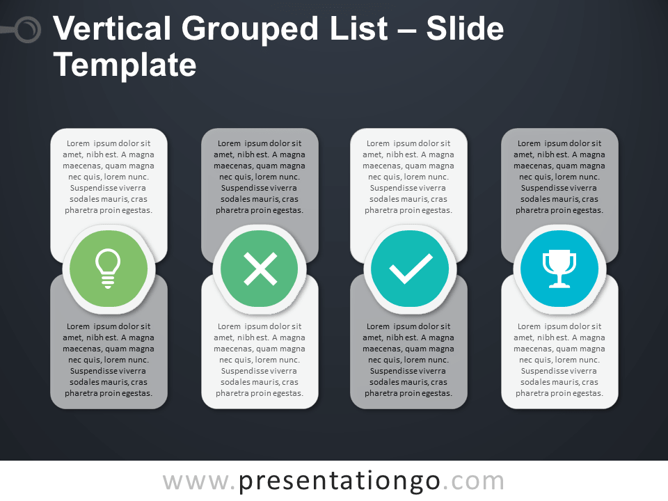 Free Vertical Grouped List Slide Template