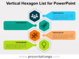 Free Vertical Hexagon List for PowerPoint