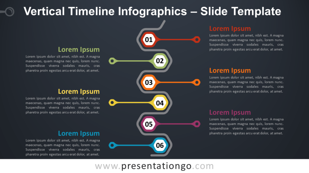 Free Vertical Timeline Infographics for PowerPoint