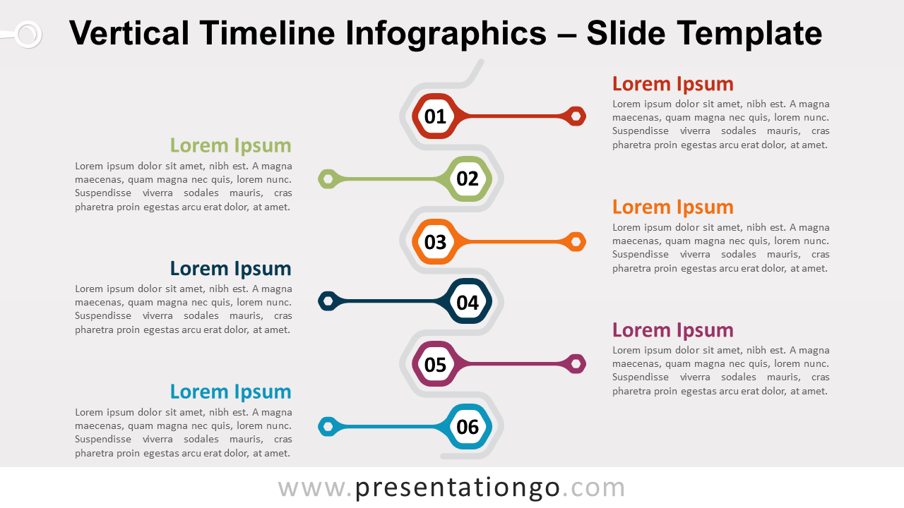Free Vertical Timeline Infographics for PowerPoint and Google Slides