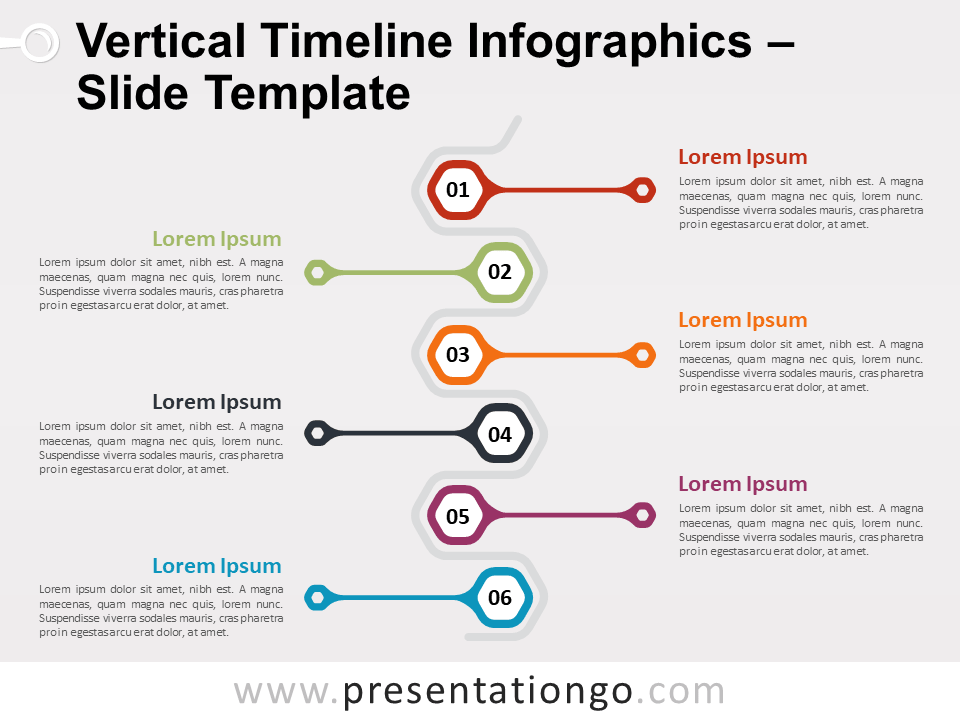 Free Vertical Timeline Infographics Slide Template