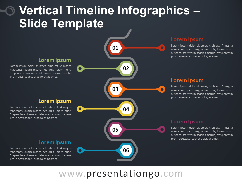 vertical timeline infographics for powerpoint and google