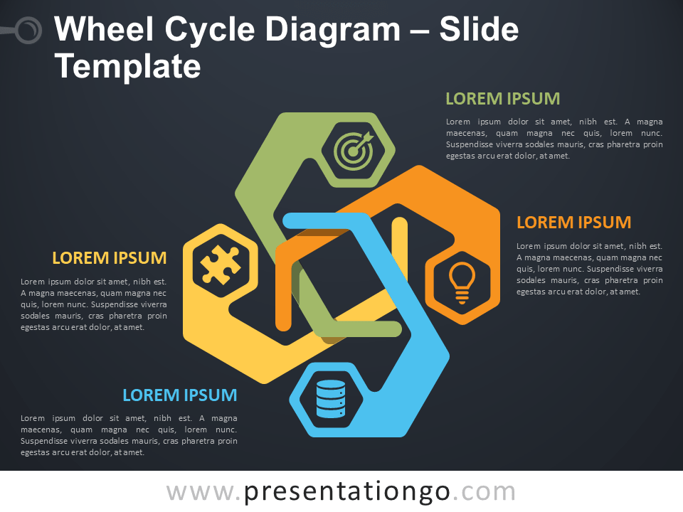 Free Wheel Cycle Diagram Template