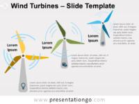 Free Wind Turbines Slide Template