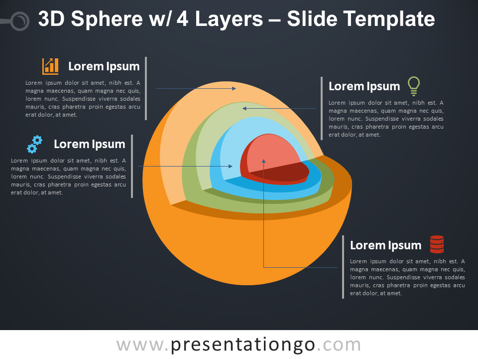 Free 3D Sphere with 4 Layers Template