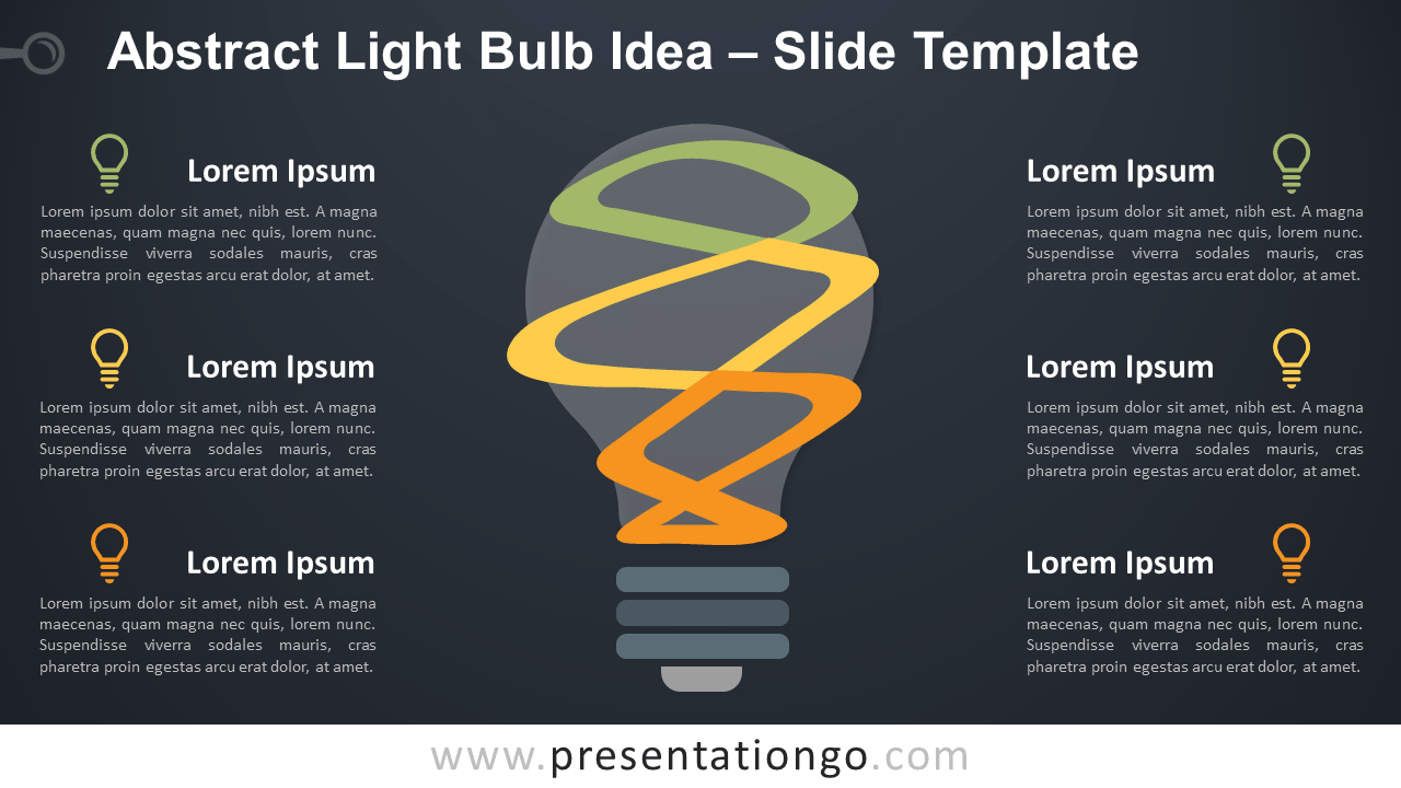 Free Abstract Bulb Idea Diagram for PowerPoint