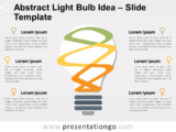 Free Abstract Light Bulb Slide Template