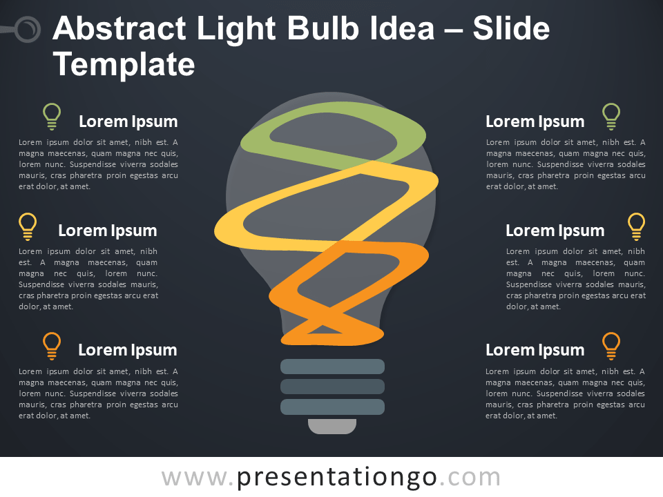 Free Abstract Light Bulb Template