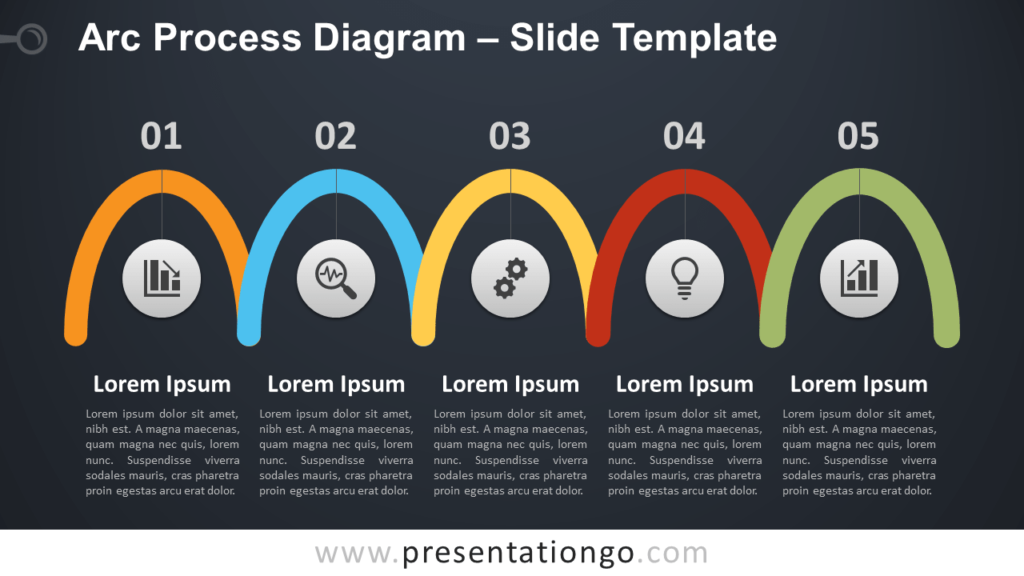 Free Arc Process Diagram for PowerPoint