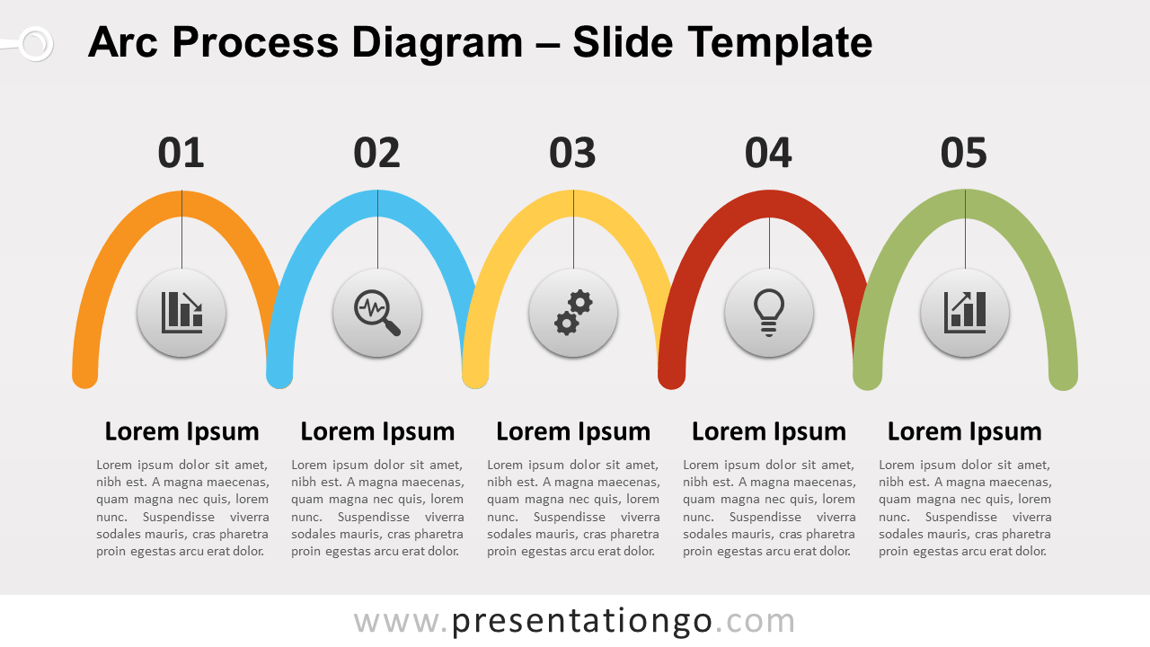 Free Arc Process Diagram for PowerPoint and Google Slides