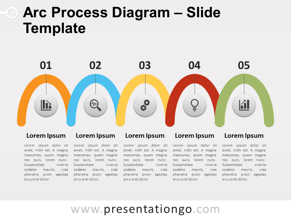 Free Arc Process Diagram PowerPoint Template