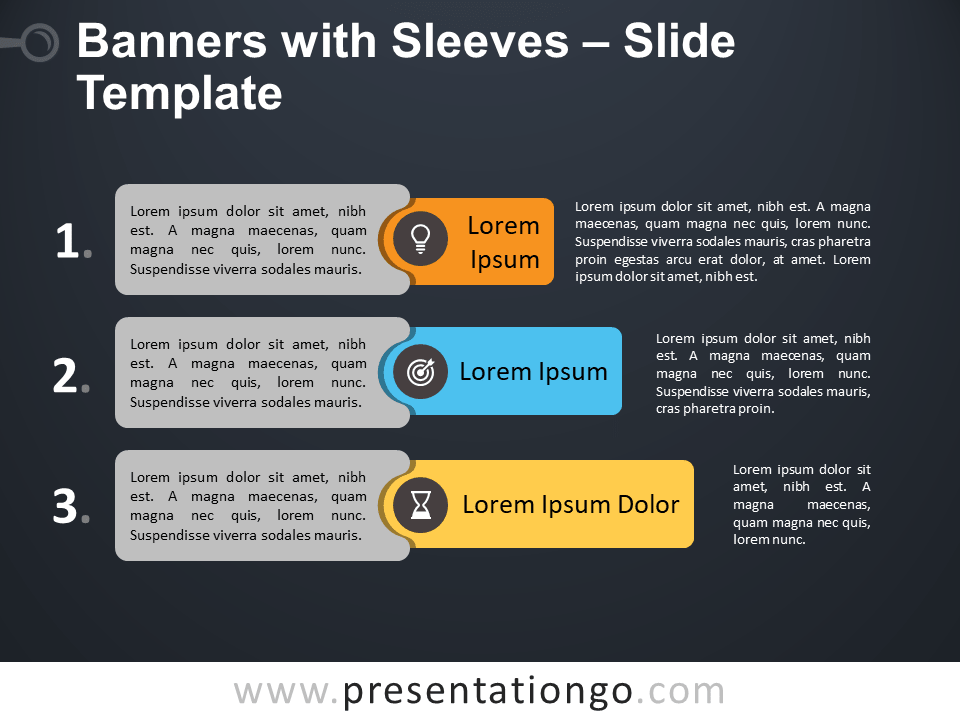 Free Banners with Sleeves for PowerPoint