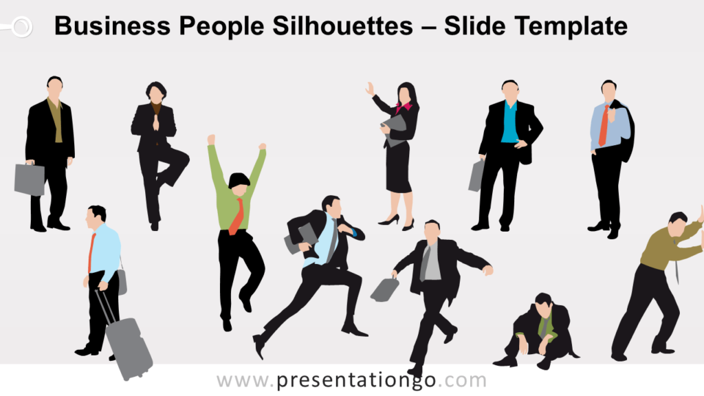 Free Business People Silhouettes for PowerPoint and Google Slides