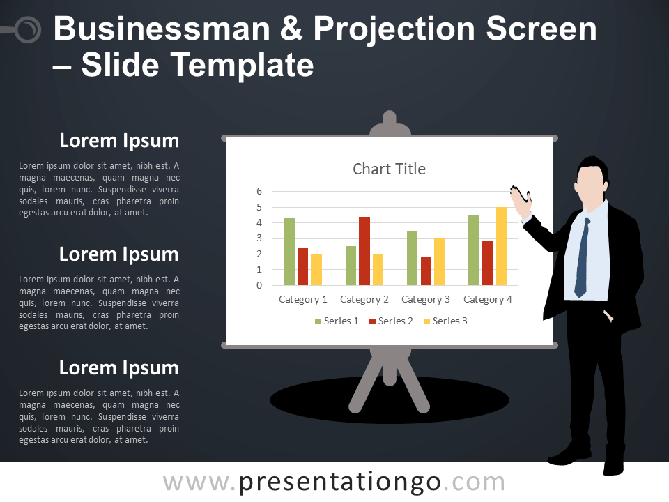 Free Businessman and Projection Screen Template