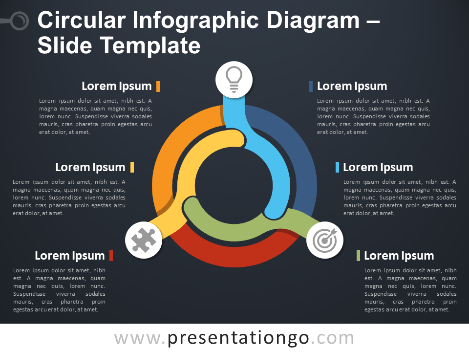Free Circular Infographic Diagram PowerPoint Template Slide